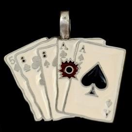 Poquer de Ases muerto Colgante