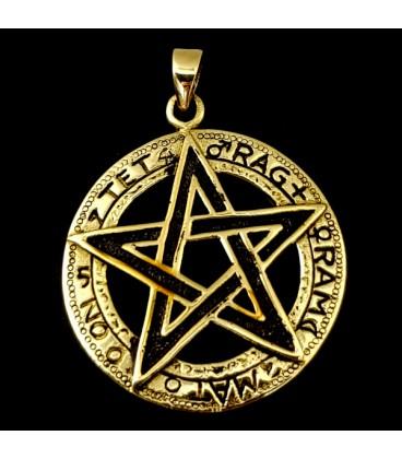 Tetragramaton. Colgante de bronce