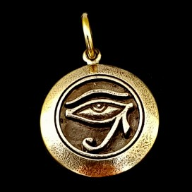 Udjat. Ojo de Horus de bronce