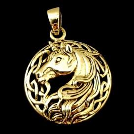 Unicornio. Colgante de bronce