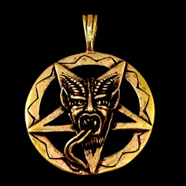 Simbolo del Baphomet Colgante de Bronce