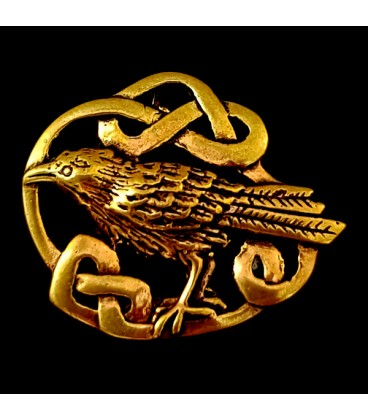 El Cuervo. Colgante de bronce