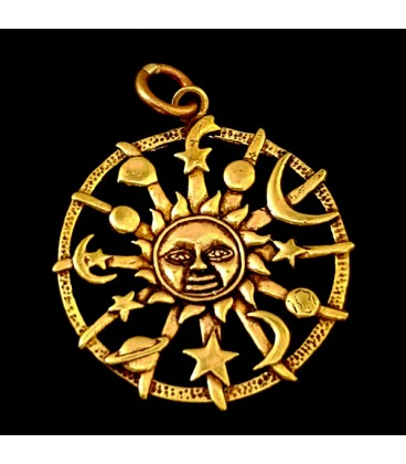 Sol Astrologico. Colgante