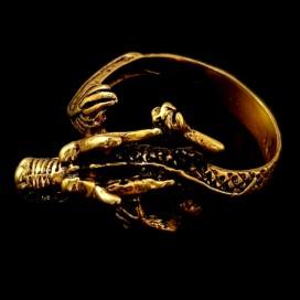 Dragon. Anillo de bronce