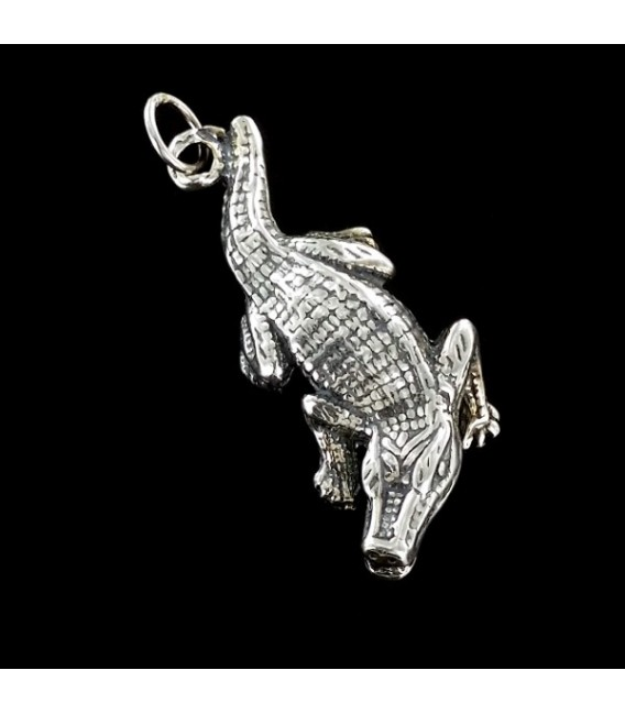 Sobek. Dios cocodrilo egipcio de plata