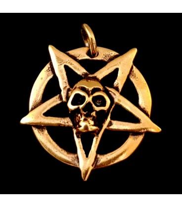 Pentaculo de bronce con Calavera