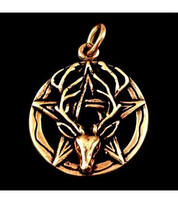 Pentaculo de bronce con Ciervo