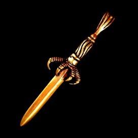 Espada con garra de bronce