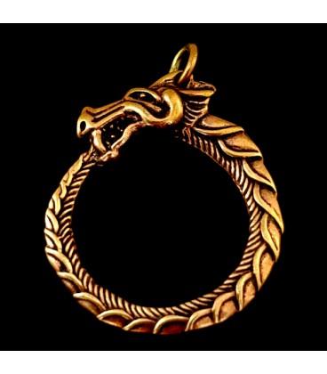 Uroboros o Ouroboros de bronce