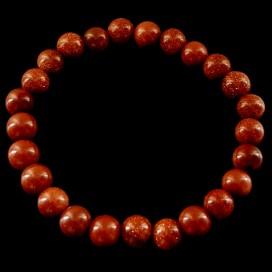 Pulsera Mágica de Piedra de Oro o Aventurina Rojo