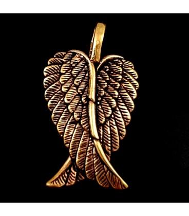 Alas del Angel Guardian de bronce