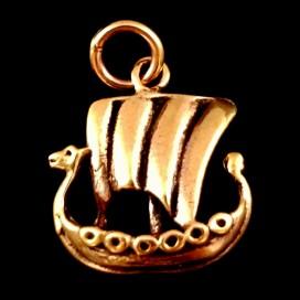 Drakkar Barco Vikingo. Colgante de bronce