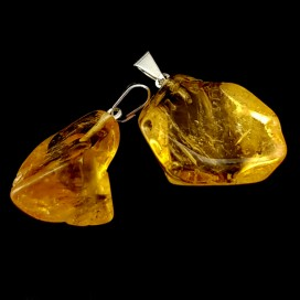 Silver Mounted Citrine Pendant