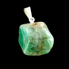 Emerald Pendant with Sterling silver Chain