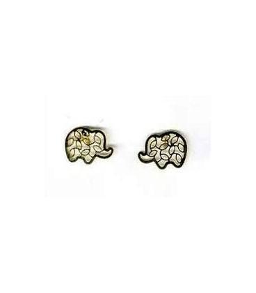 Elefante Pendientes de oro