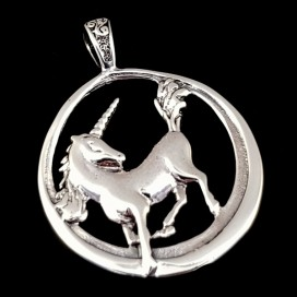 Unicorn. Sterling silver