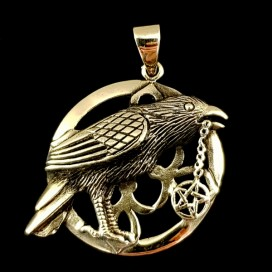 The Crow. Bronce pendant
