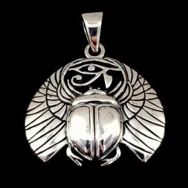 Khepri Dios egipcio de plata de ley
