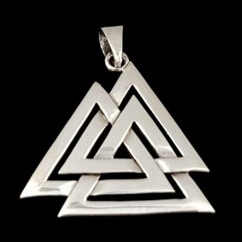 Valknut. pewter pendant with cord
