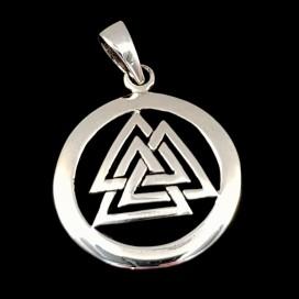 Valknut. Silver pendant