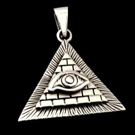 Illuminati. Ojo que todo lo ve. Plata de ley