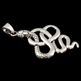 Sterling silver Snake pendant.