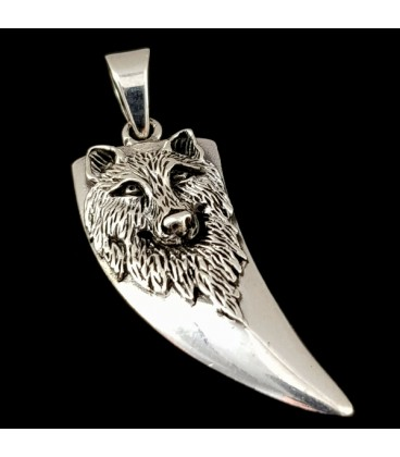 Wolf. Sterling silver pendant