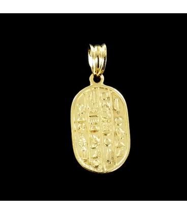Tabla Egipcia Colgante de Oro 18K