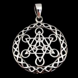 Metatron. Silver pendant.