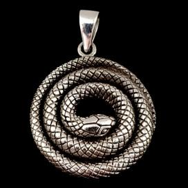 Python. Silver pendant