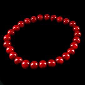 Coral Bracelet 7mm Beads
