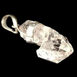 Diamante Herkimer Colgante montado en plata
