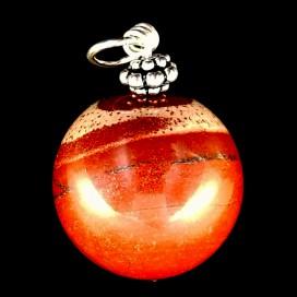 Colgante esfera de Jaspe Rojo