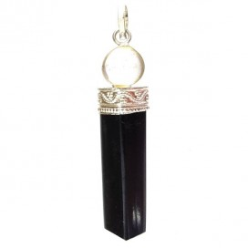 Tourmaline and Quartz pendant