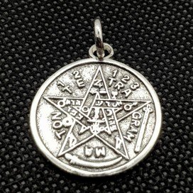 Tetragrammaton. Sterling silver pendant with chain