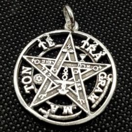 Tetragramaton. Plata de ley con cadena