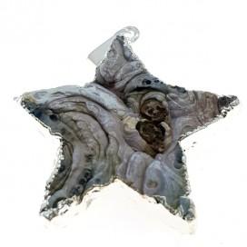 Estrella de Agata. Colgante con cordon