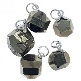 Pyrite tusk pendant