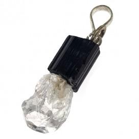 Colgante de Turmalina y Diamante de Herkimer