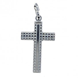 Cruz de plata con cadena plata